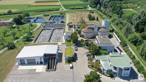 Luftbild Gesamte Kläranlage Schorndorf